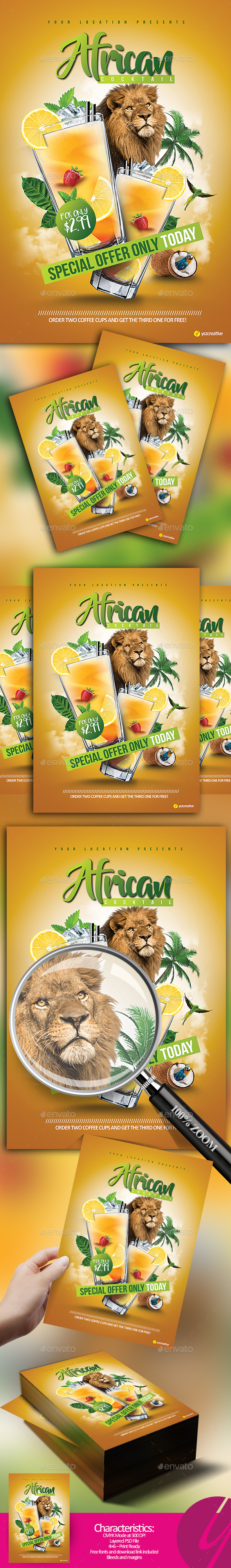 African Cocktail Flavour - Clubs & Parties Events