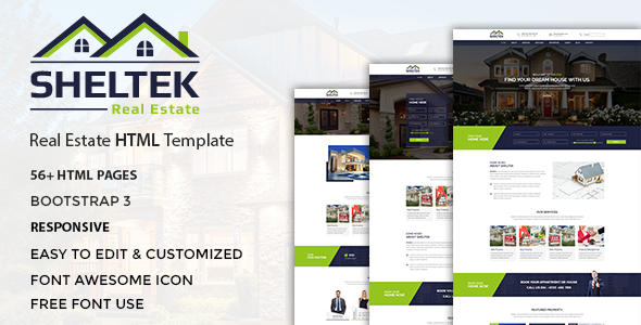 Sheltek – Real Estate Responsive Template