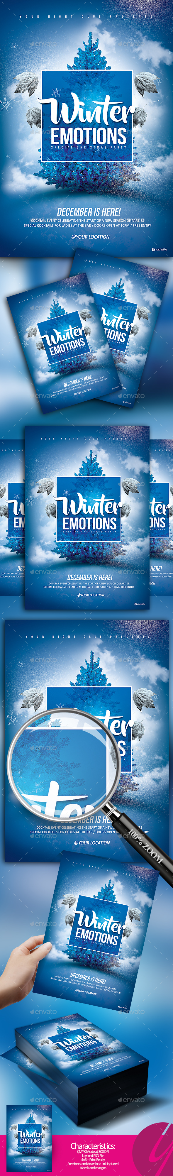 Winter Emotions Flyer - Clubs & Parties Events