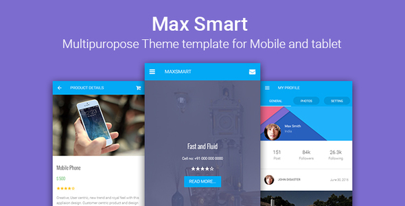 Maxsmart | Multipurpose Responsive HTML for Mobile and Tablet - Mobile Site Templates