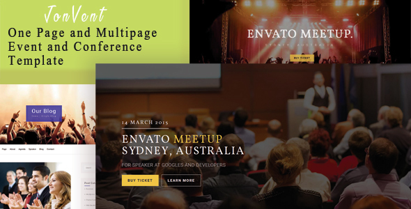Jonvent – One Page and Multipage Event and Conference HTML Template