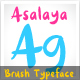 Asalaya Fancy Brush Typeface - GraphicRiver Item for Sale