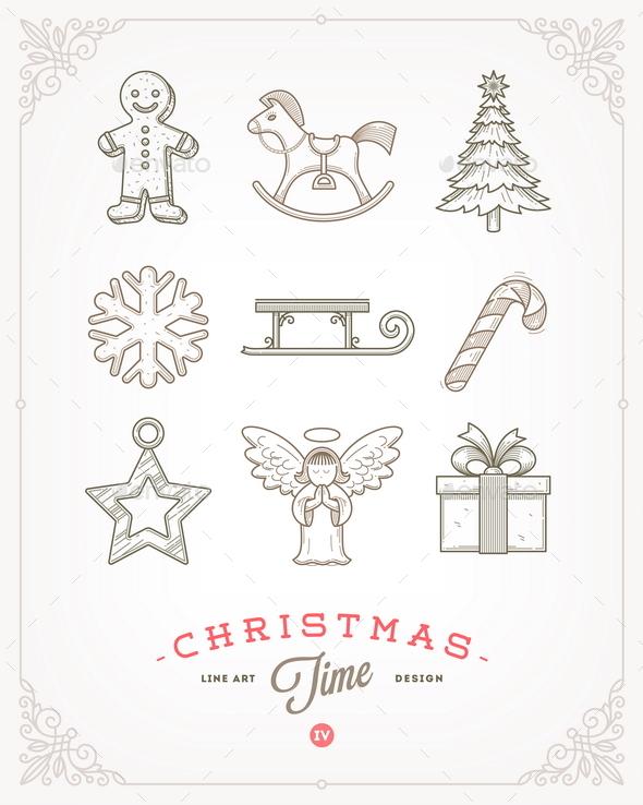 Set of Christmas Signs and Symbols - Christmas Seasons/Holidays