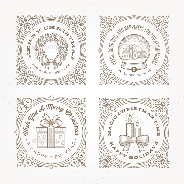 Christmas Flourishes Frame - Christmas Seasons/Holidays