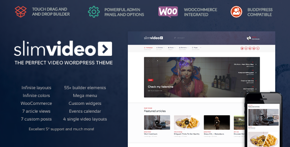 Slimvideo - Video WordPress Community Theme - Entertainment WordPress