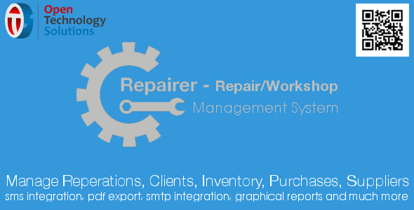 Repairer - Repair/Workshop Management System 2.1 - CodeCanyon Item for Sale