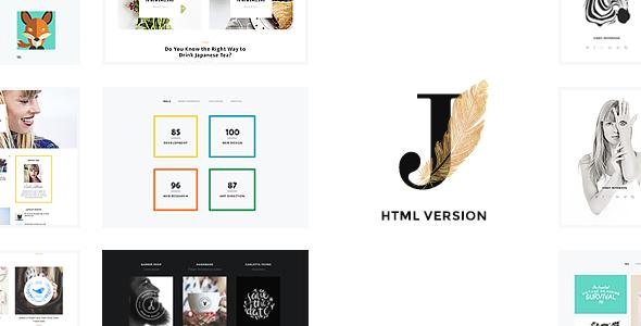 Cindy J | Creative Portfolio / Blog / CV HTML Theme - Portfolio Creative