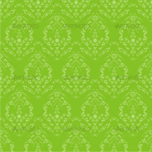 Seamless green floral wallpapers - Backgrounds Decorative
