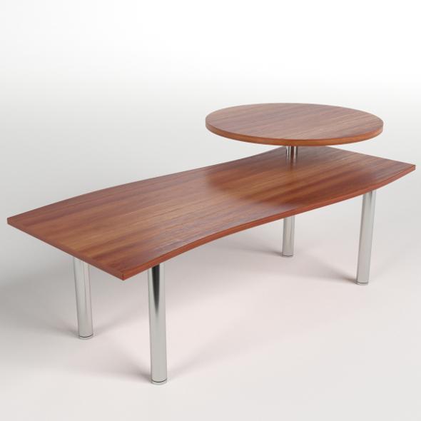 Desk with circular shelf 1 - 3DOcean Item for Sale