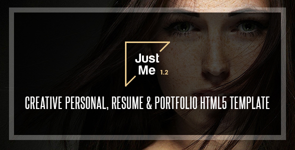 Just Me | Creative Personal Resume, vCard & Portfolio HTML5 Template - Creative Site Templates