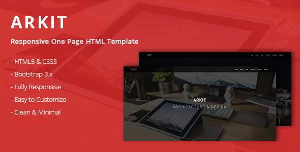 Arkit - Responsive One Page HTML Template - Creative Site Templates
