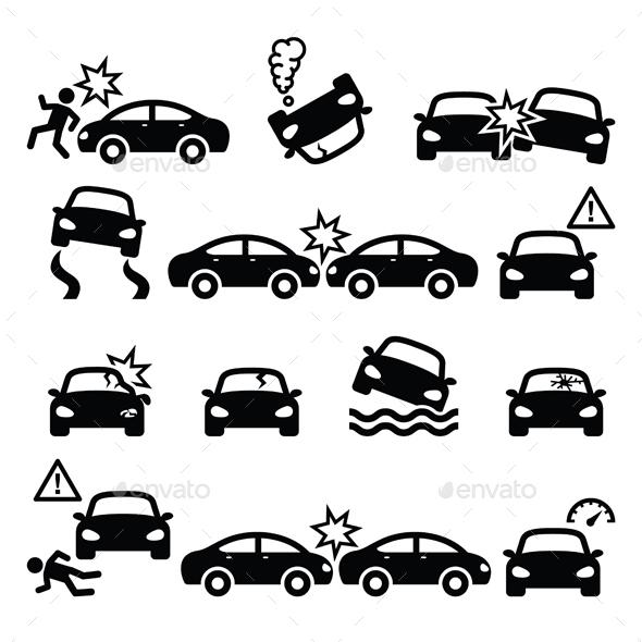 Road Accidents Set - Miscellaneous Vectors