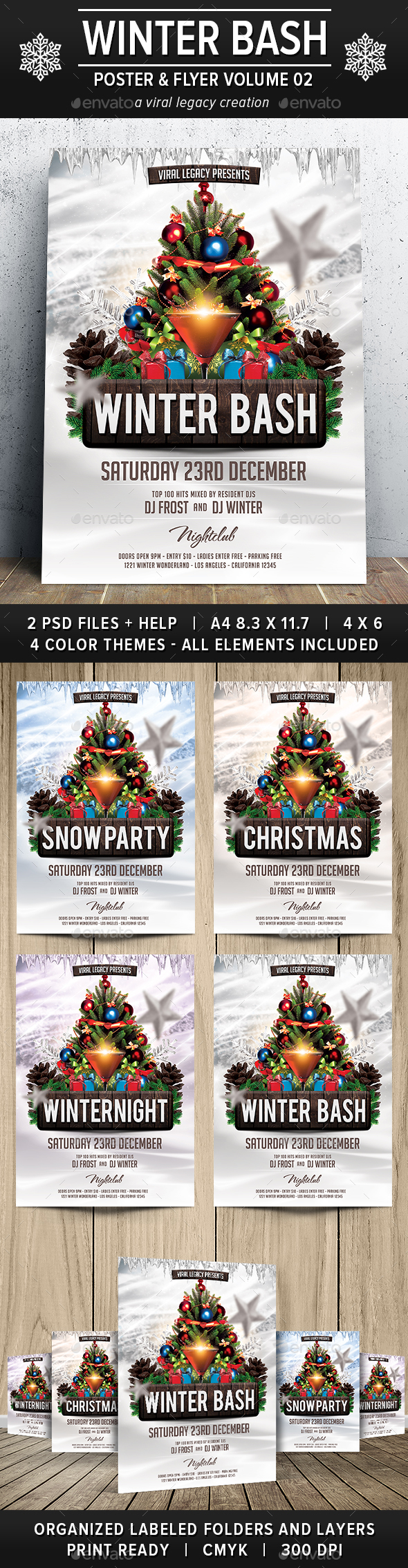 Winter Bash V02 - Events Flyers
