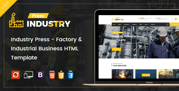 Industry Press – Factory & Industrial Business HTML Template