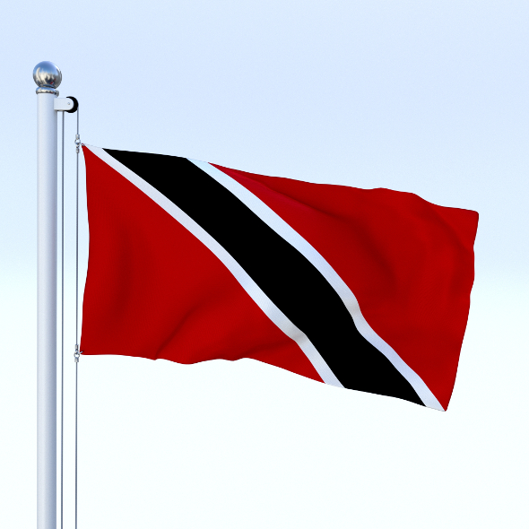 Animated Trinidad and Tobago Flag - 3DOcean Item for Sale