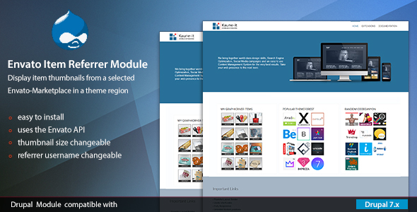 Envato Item Referrer Module for Drupal 7 - CodeCanyon Item for Sale