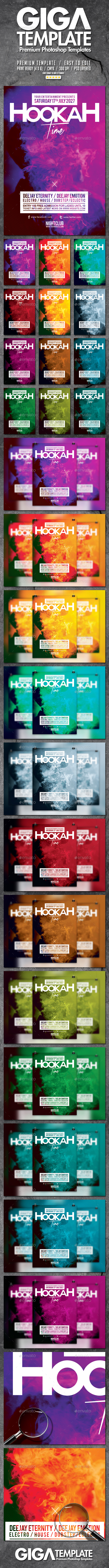 Hookah Time 2.0 | Smoke Party Flyer PSD Template - Events Flyers