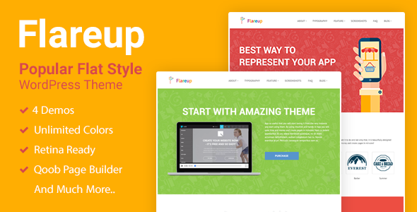 Flareup – Responsive Flat WordPress Theme