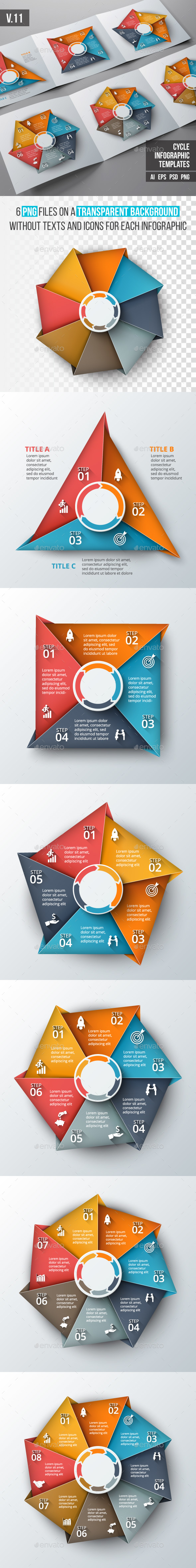 Infographics template set v.11 - Infographics