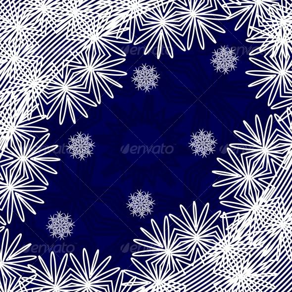 Christmas background with the snow-flakes  - Christmas Seasons/Holidays