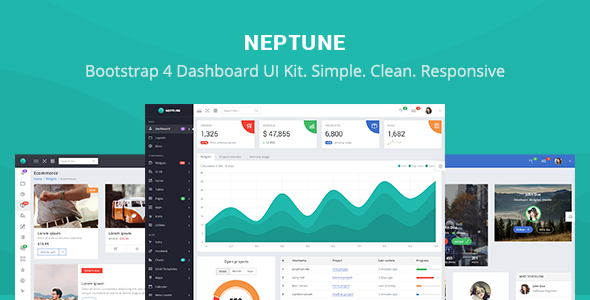 Neptune – Bootstrap 4 Dashboard UI Kit + Material Design + Landing Pages