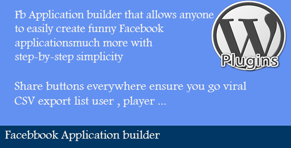 Facebook Application Builder - CodeCanyon Item for Sale