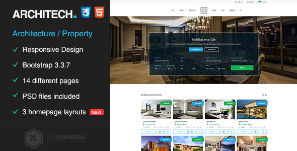 Architech – Single Property & Architecture HTML5 Template