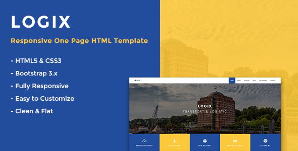 Logix – Responsive One Page HTML Template