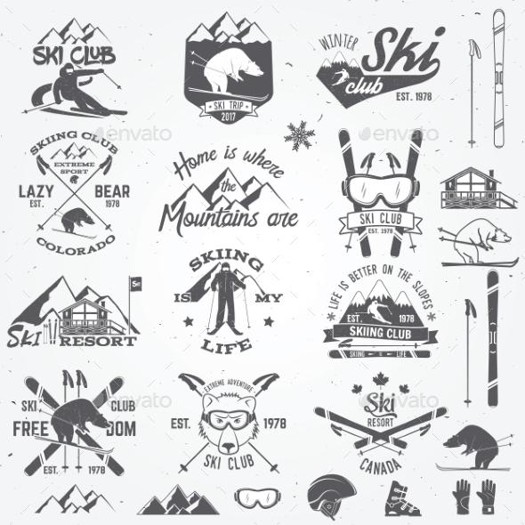 Ski Club Design - Sports/Activity Conceptual