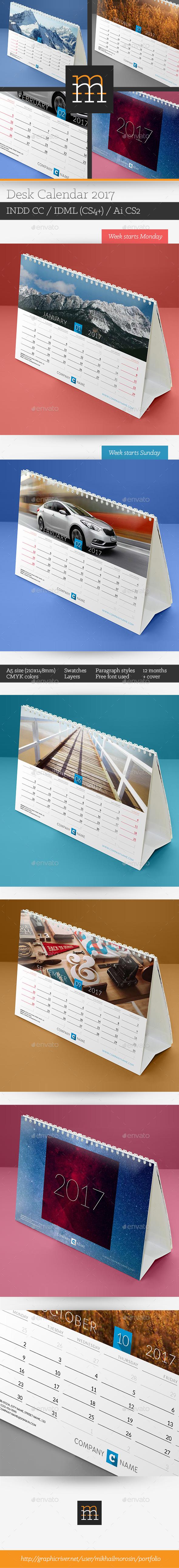 Desk Calendar 2017 - Calendars Stationery