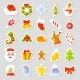 Christmas Stickers Set Collection Vector - GraphicRiver Item for Sale