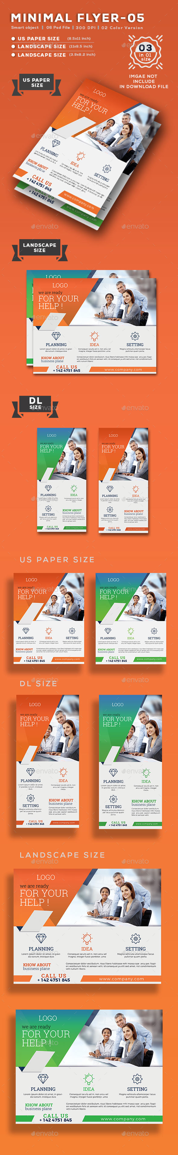 Minimal Flyer-05 - Flyers Print Templates