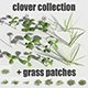 clover collection with gras patches R-assets - 3DOcean Item for Sale