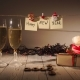 New Year and Christmas Celebration with Champagne. Two Flutes and Pouring Sparkling Wine From the - VideoHive Item for Sale