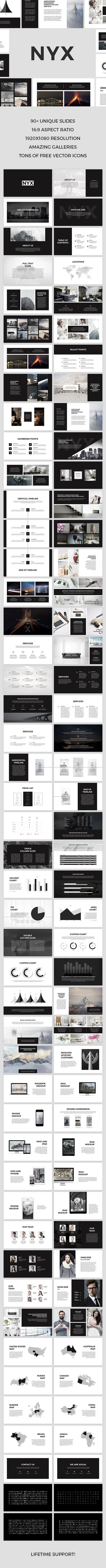 Nyx PowerPoint Template - PowerPoint Templates Presentation Templates