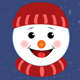 Cartoon Christmas and New Year Snowman Emoji - VideoHive Item for Sale