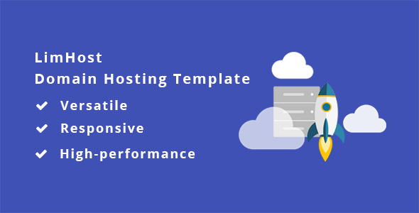 LimHost – Domain & Hosting HTML Template