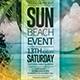Summer Beach Event Flyer - GraphicRiver Item for Sale