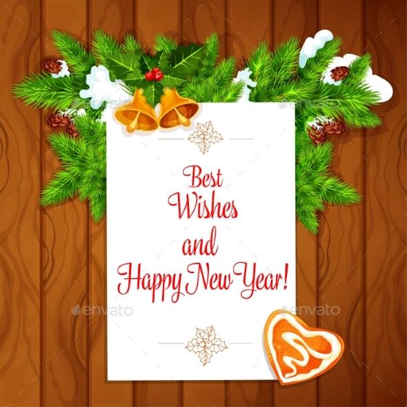 New Year Vector Poster - New Year Seasons/Holidays
