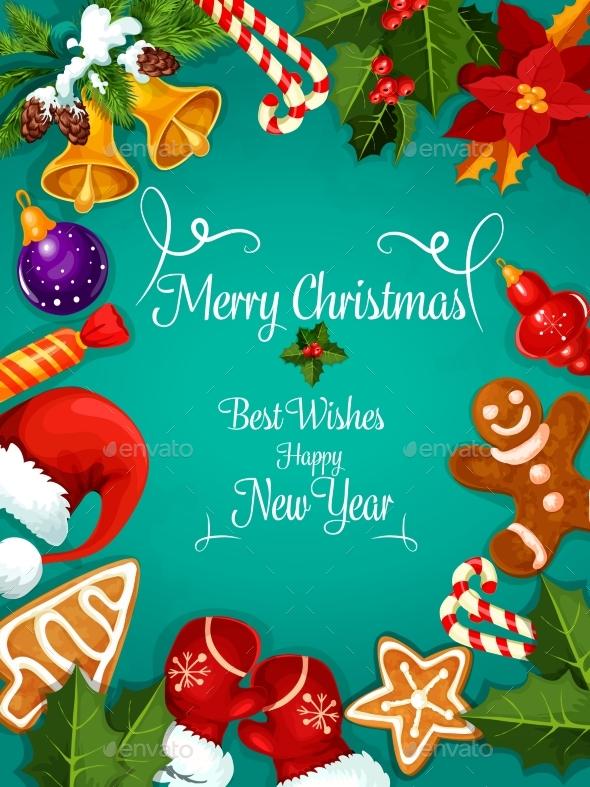 Merry Christmas, New Year, Greeting - Christmas Seasons/Holidays