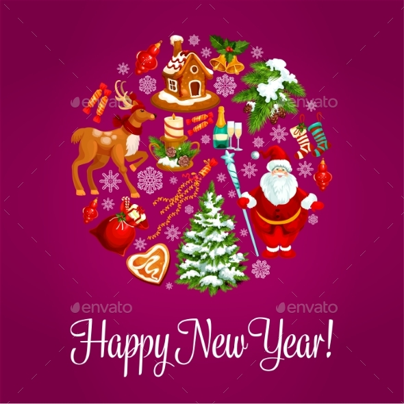 Happy New Year Greeting Card - New Year Seasons/Holidays