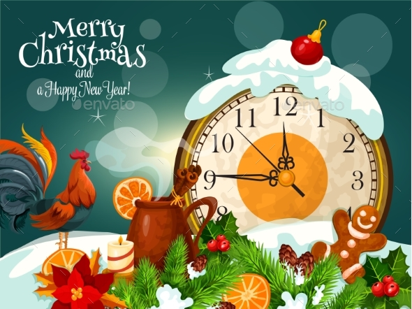 Merry Christmas, Happy New Year Greeting Card - Christmas Seasons/Holidays