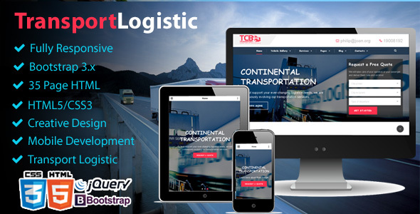 Theme Logistic Business – Transport & Trucking Logistics