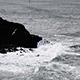Sea Waves Hitting Against Black Lava Shore Oregon - VideoHive Item for Sale