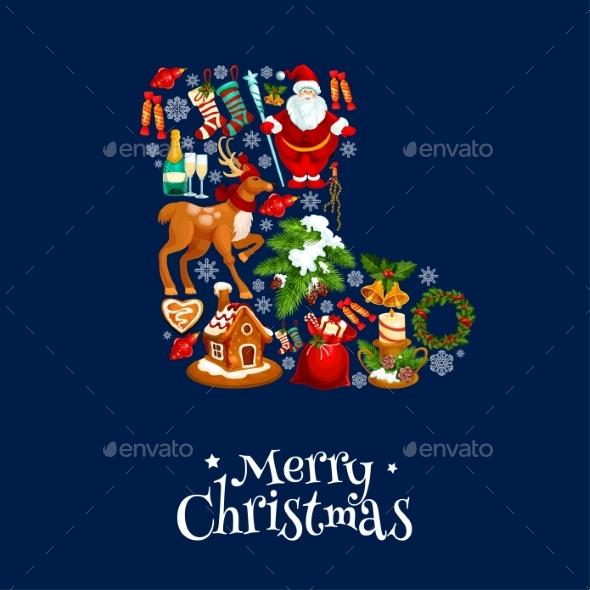 Merry Christmas Greeting Poster, Card - Christmas Seasons/Holidays