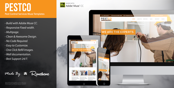 Pestco – Pest Control Services Muse Templates