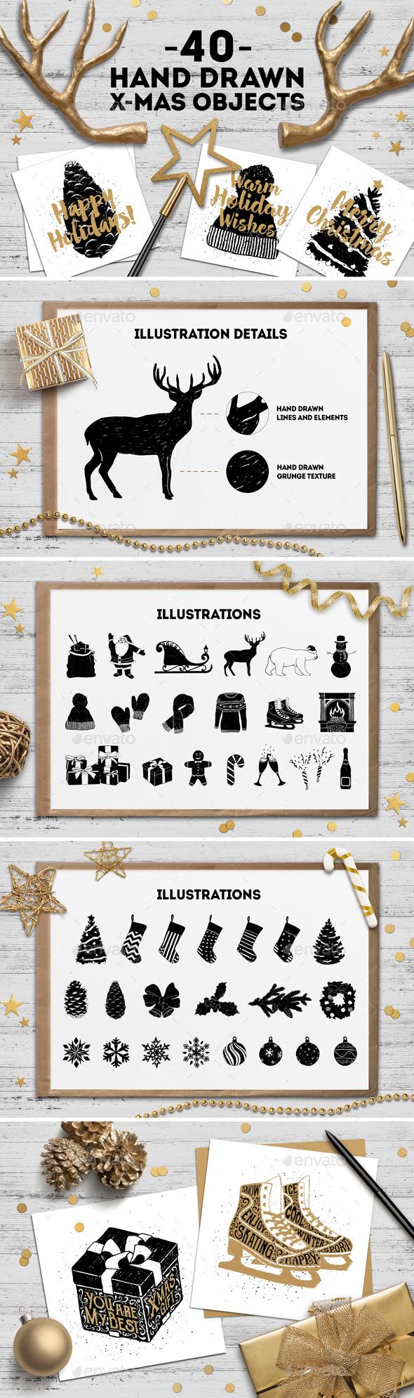Hand Drawn Winter Collection - Christmas Seasons/Holidays