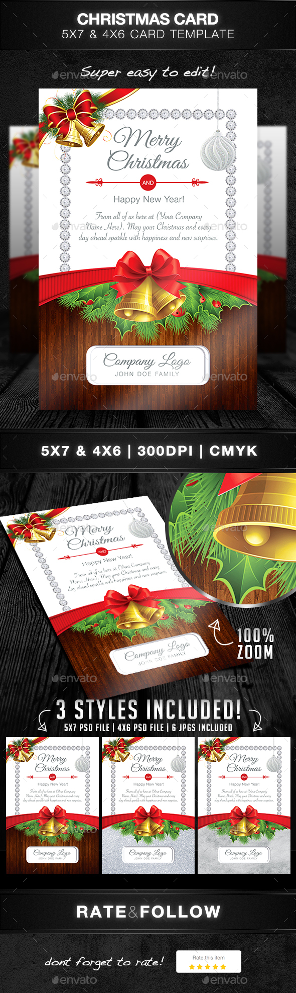 Christmas Card Template - Commerce Flyers