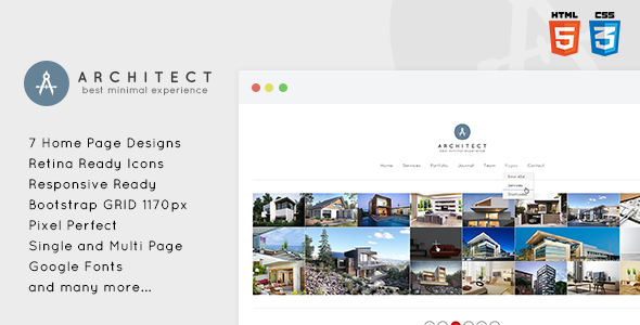 Architect - Creative & Minimal HTML5 Template