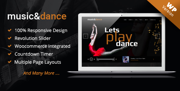 Music & Dance WordPress Theme - Music and Bands Entertainment